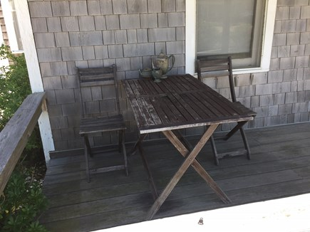 North Truro Cape Cod vacation rental - Table for two on the porch
