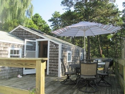 Wellfleet Cape Cod vacation rental - Deck entrance to the cottage