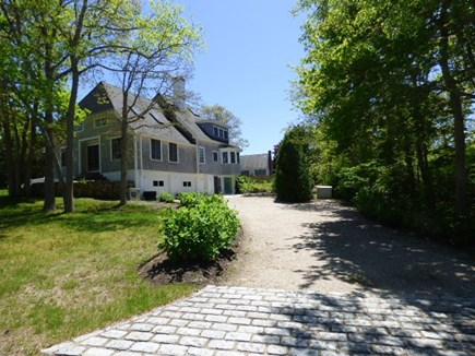 Dennis Cape Cod vacation rental - Back side of house located on a large corner lot.