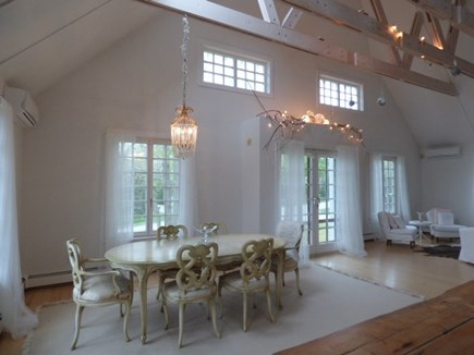 Dennis Cape Cod vacation rental - Dining area in huge living room with Cathedral ceilings