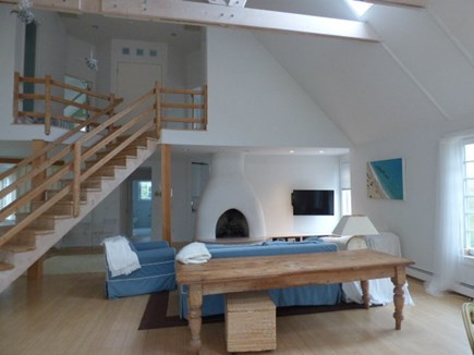Dennis Cape Cod vacation rental - Sitting area with TV and Gas fireplace
