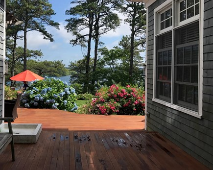Brewster Cape Cod vacation rental - View of the pond as you enter the breezeway of the property