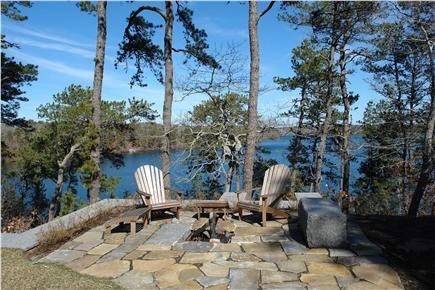 Brewster Cape Cod vacation rental - S'mores anyone?  Firepit overlooking Sheep Pond