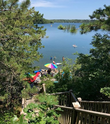 Brewster Cape Cod vacation rental - Gorgeous views and room for everyone on the spacious private dock
