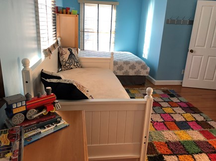 Brewster Cape Cod vacation rental - Second bedroom (view of twin trundle and queen bed)
