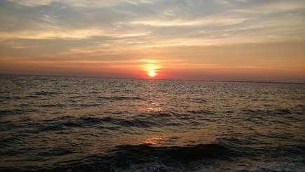 Truro Cape Cod vacation rental - A beautiful sunset on Fisher Beach, great time to walk and enjoy.