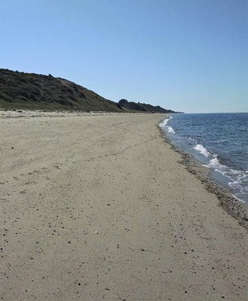 Truro Cape Cod vacation rental - Fisher Beach goes on for miles.  You can see Plymouth, Ma.