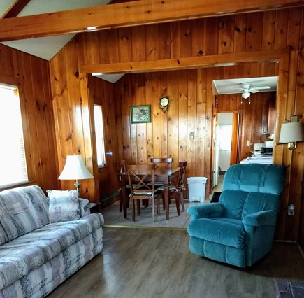 Truro Cape Cod vacation rental - Spacious living room with fireplace, cable television.