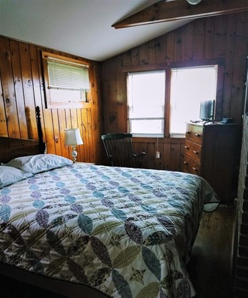 Truro Cape Cod vacation rental - Cozy master bedroom with cable television, queen sized bed.