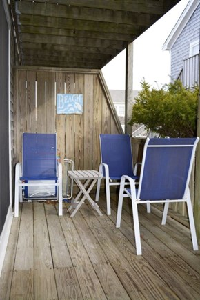 Provincetown Cape Cod vacation rental - Deck, sunny in the am, great for morning coffee or evening drinks