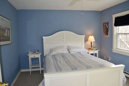 Provincetown Cape Cod vacation rental - Bedroom 2 a quiet corner room, carpeted, queen bed, window a/c