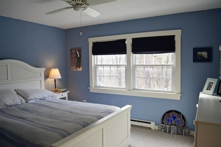Provincetown Cape Cod vacation rental - Bedroom 1 faces hill, very quiet; carpeted, queen bed. Window a/c