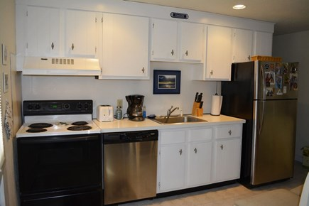 Provincetown Cape Cod vacation rental - Kitchen view...with stove, frig, dish washer. well equipped!