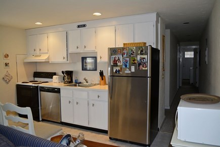 Provincetown Cape Cod vacation rental - Kitchen 2. Pots, pans, dishes, table ware, glasses...all u need.