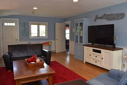 Brewster Cape Cod vacation rental - Water Fall: Living Room (not pictured: full couch & 2 chairs).