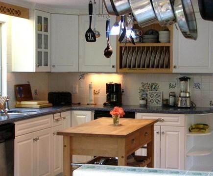 Brewster Cape Cod vacation rental - Hydrangea House: Gourmet Corian & stainless kitchen.