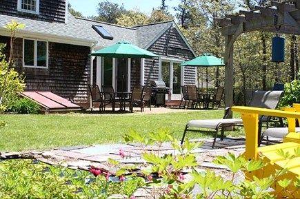 Brewster Cape Cod vacation rental - Hydrangea House: Back yard and patio