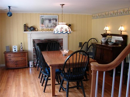 Brewster Cape Cod vacation rental - Hydrangea House: Dining room oak table, seats 10