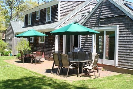 Brewster Cape Cod vacation rental - Hydrangea House: Back patio
