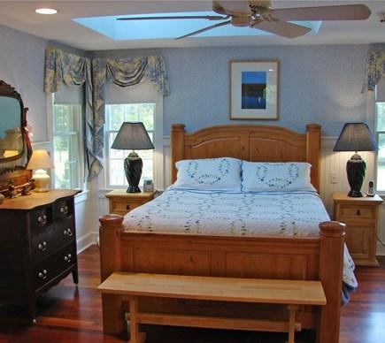 Brewster Cape Cod vacation rental - Hydrangea House: Bedroom #1: 1st fl. w/ skylight and ceiling fan.