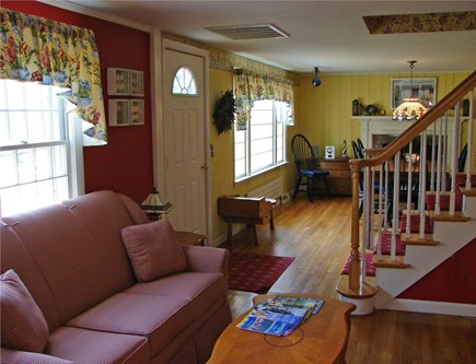 Brewster Cape Cod vacation rental - Hydrangea House: Work corner in living room w/DSL, phone and fax