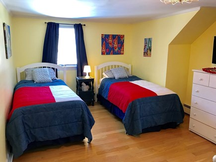 Brewster Cape Cod vacation rental - Water Fall House: Bedroom #4: 2nd Floor 2 twins + trundle