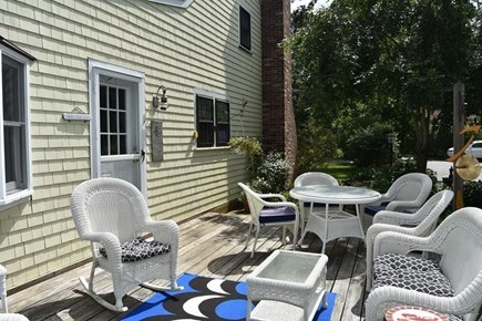 Brewster Cape Cod vacation rental - Water Fall House: Spacious Deck, adjacent to kitchen.