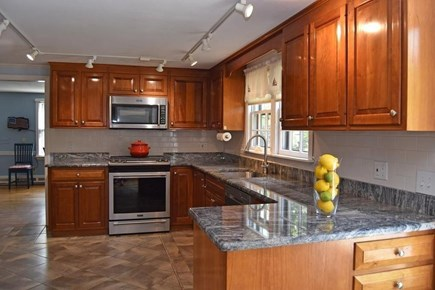 Brewster Cape Cod vacation rental - Water Fall House w/newly renovated kitchen 5 burner gas stove.