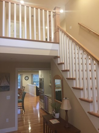 Dennis Cape Cod vacation rental - Dramatic foyer and staircase leading to 4 huge bedrooms