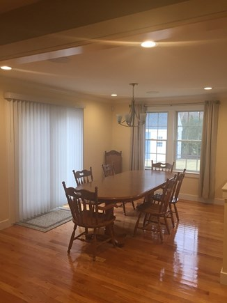 Dennis Cape Cod vacation rental - Nice dining room with french doors to the deck