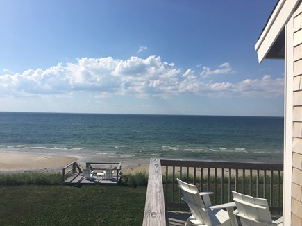 Dennis Cape Cod vacation rental - Large oceanfront deck and second deck on the bluff
