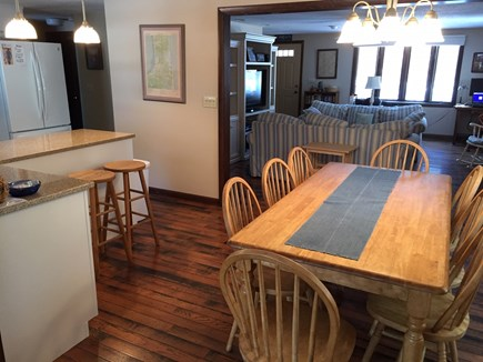 Eastham Cape Cod vacation rental - Open layout of the Dining/Kitchen /Livingroom