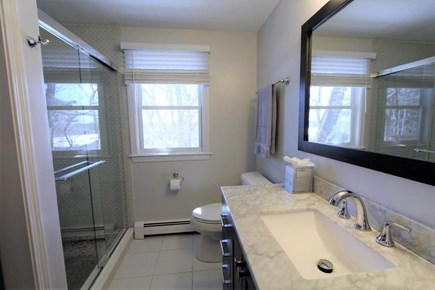 Yarmouthport Cape Cod vacation rental - Full bath on first level with enclosed shower