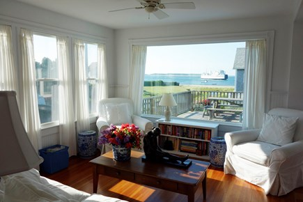 West Yarmouth Cape Cod vacation rental - House: Living Room w/ view of Lewis Bay