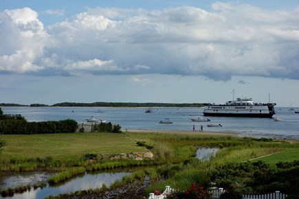 West Yarmouth Cape Cod vacation rental - View from the properties of Lewis Bay w/ferry boats