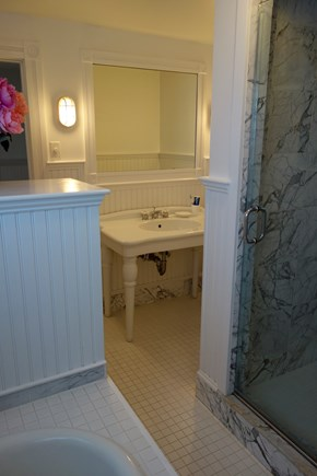 West Yarmouth Cape Cod vacation rental - House: Bathroom on Upper Floor w/shower and tub