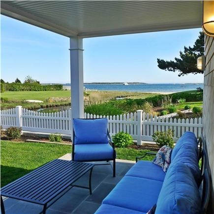 West Yarmouth Cape Cod vacation rental - Cottage: Patio with view of Lewis Bay