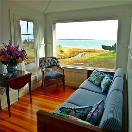 West Yarmouth Cape Cod vacation rental - Cottage: Living room w/view of Lewis Bay