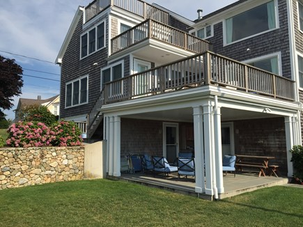 West Yarmouth Cape Cod vacation rental - House: A patio and three decks, all facing Lewis Bay