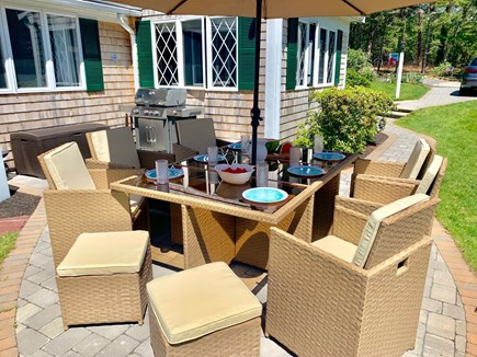 Harwich Cape Cod vacation rental - Patio seating for up to 10 people