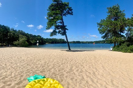 Harwich Cape Cod vacation rental - Beach area of Bucks Pond that is approx. 1/4 mile away!
