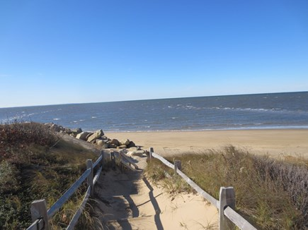 Eastham, Bayside Cape Cod vacation rental - 3/10 mile to private beach on the Bay north of Cooks Brook Beach.