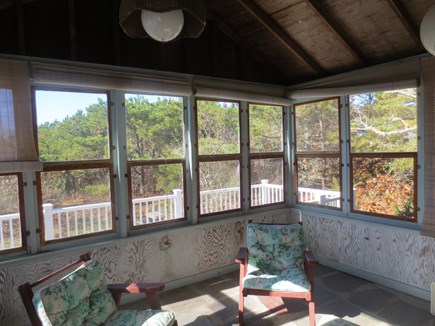 Eastham, Bayside Cape Cod vacation rental - Screened in porch off the living room.