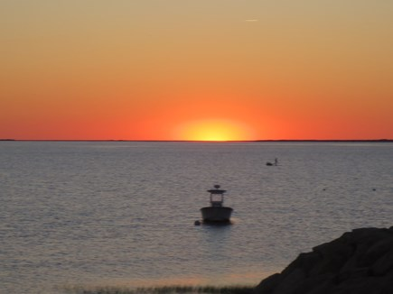 Eastham, Bayside Cape Cod vacation rental - Sunset viewed from the private beach