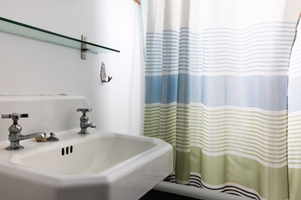 Wellfleet Cape Cod vacation rental - 3.5 baths, one full in cottage and 2.5 in main house