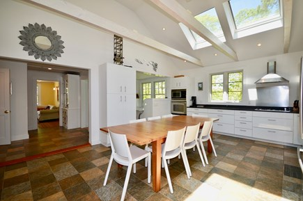 Wellfleet Cape Cod vacation rental - Beautiful kitchen with breakfast nook and large dining table