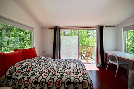 Wellfleet Cape Cod vacation rental - Queen bedroom with private deck in the cottage