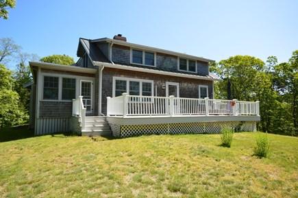 Wellfleet Cape Cod vacation rental - Large back deck and sprawling back yard