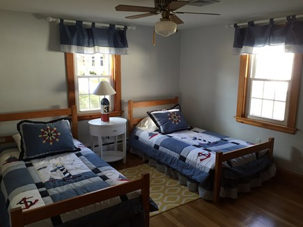 West Harwich Cape Cod vacation rental - Nautical bedroom with two extra long twin beds