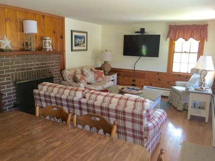 West Harwich Cape Cod vacation rental - Open concept living/dining room complete with 50 inch Smart HD TV